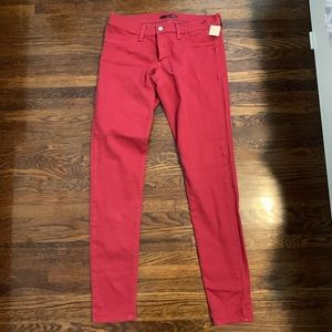 Flying Monkey Red straight leg Jeans NWT